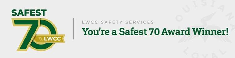 Safest 70 Award winner graphic